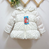Free shipping hot selling 2013 new baby thickening wadded jacket for girls winter down coat