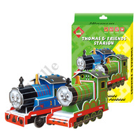 3d puzzle diy paper puzzle mosaic educational toys thomas model