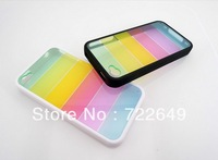 Fashion silcon rainbow Back Case Cover for phone 4G TOP QUALITY LUXURY 200pcs Wholesale gift free DHL shipping