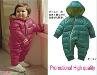 Wholesale!!Free shipping 2013 fashion baby romper for winter cotton padded 3Pcs/Lot children kids jumpsuit warm clothes