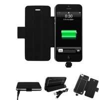 2600mAh External Battery Case with W/Case Clip/Sticker For Apple iphone 5 Black