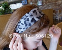 free shipping 12pcs leopard headband 2 color mix wholesale price korea fashion hair hoop good quality hair band 2013 new trend