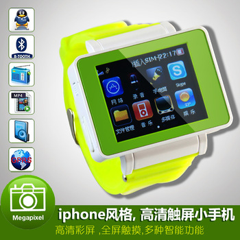 2013  new hot sale 2013 child personality smart touch mini length wrist watch mobile phone