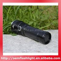 Cree XM-L U2 LED 4-Mode 1050 Lumens Waterproof Flashlight with Dual USB Portable Charger (3 x 18650)