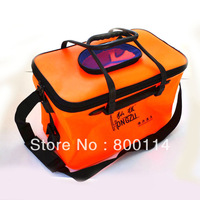 Free Shipping Eva fishing bucket fishing box bucket folding water tank fishing with fishing tackle fishing tackle