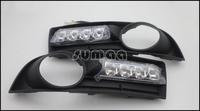 LED DRL,LED Daytime Running Lights for Volkswagen VW Touran 2004-2006 + Free Shipping By EMS or Fedex,4pcs LED + Turnning Lights