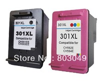 Free Shipping CH564EE CH563EE  Black&Colour INK CARTRIDGES For HP301XL HP Deskjet 1000 1050 1050a 2000 2050 2050a 2050s 2050se