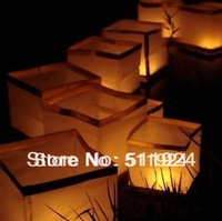 Wholesale Square Floating lantern chinese paper & Outdoor River Lantern & Water Light Free Shipping