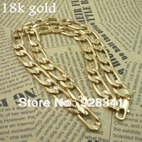 Wholesale - 1piece/lot Men's Jewelry 18k gold plated fashion necklaces chains necklaces link necklace  85g 23inch /12.2mm T2