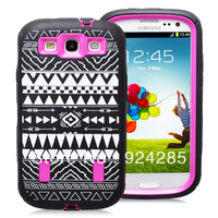 New Arrival Primitive Tribal Pattern High Impact Rugged Case for Sam S III/  I9300