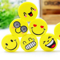 100 PCS Small stationery smiley eraser prize school supplies erasers for kids