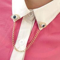 Free Shipping Devil eye y065 fashion popular punk the collar chain brooch