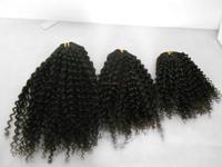 Mixed Length 3 pcs lot mongolian kinky curly hair,hair extension virgin kinky curly weave hair no tangles no shidding