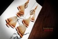 Free Shipping Yaju bohemia gold leaf feather earrings