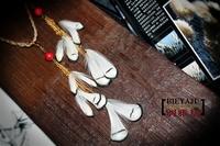 Free Shipping Yaju bohemia white small feather earrings