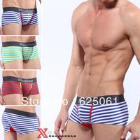 freeshipping stripe low-waist cotton male  underwear comfortable men's Boxer shorts