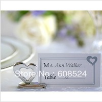 Free shipping Heart Shape Metal Place Card Holders/Wedding Gifts/Wedding Favors wholesale