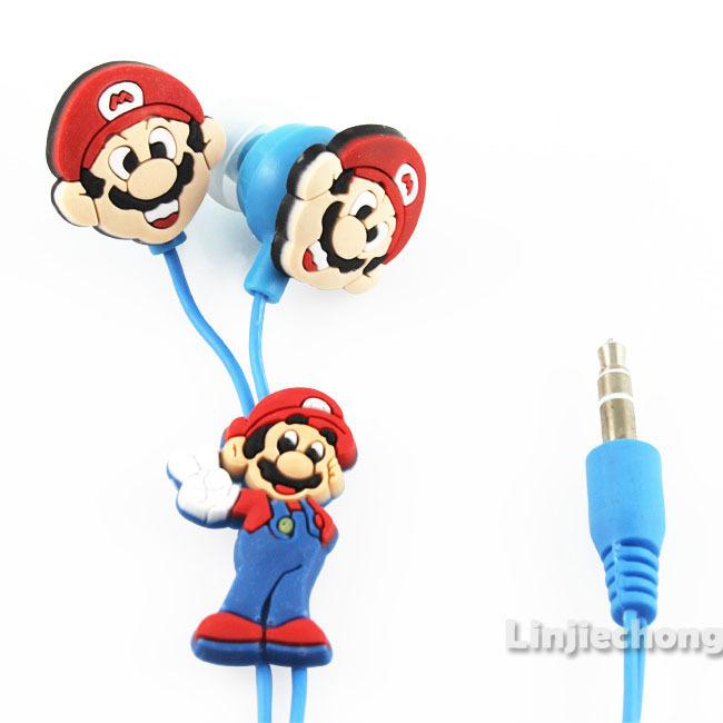 5pcs/Lot Boys Bros Cute Cartoon Character Funny Kids Cool Headphones Earphone Earbuds 3.5mm In-Ear Mp3 Free Shipping E26(China (Mainland))