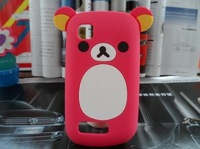 1 Piece + Free shipping,Cute Teddy Bear Silicon Case for Nokia  Asha 200 Case 2 colors