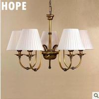 2014  new modern light chandelier  iron+fabric craft  E14 with 5 light