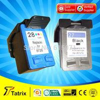 HongKong Free Shipping,  2 Pieces  Ink Cartridge for HP 27 28 for HP PSC1315 PSC 1315 Officejet 5610 4315v 4315 Ink Cartridge