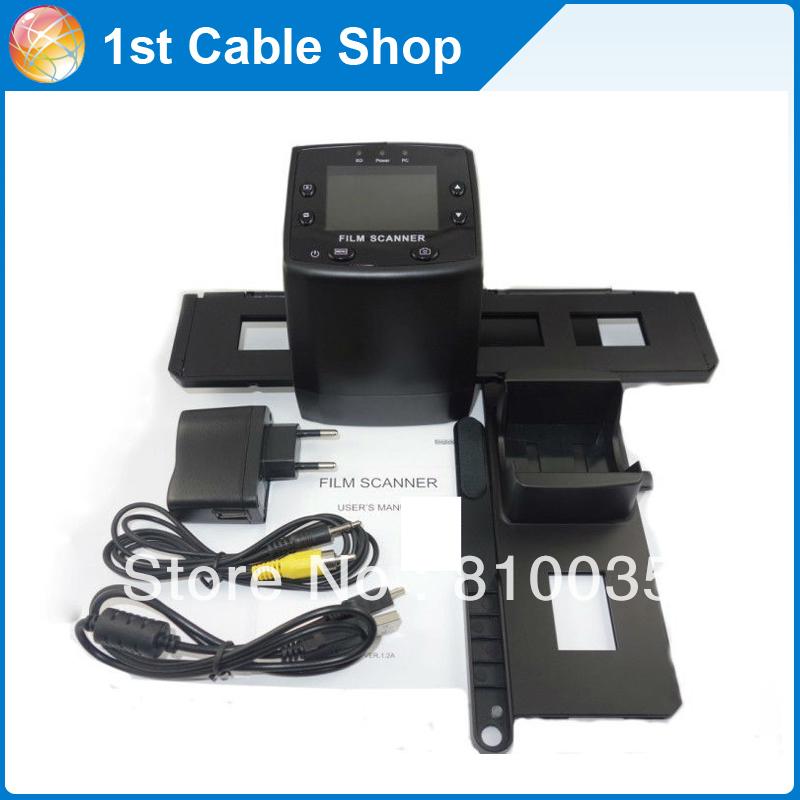 "Retail package+ 1PCS/lot 5MP Digital Film Negative Photo Scanner / Converter 35mm USB LCD Slide 2.4"" TFT(China (Mainland))"
