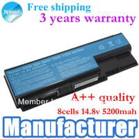 5200mAh Laptop battery for Acer Aspire 8730G 8920 8920G-6A4G32Bn 8920G 5710G 8930G-584G32Bn 5920G 6920 BT.00804.020 BT.00804.024