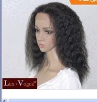 Wholesale Imitate human hair no lace Wonder Stylish Kanekalon Style Handsewn Perruque FULL LACE FRONT Kinky Wigs