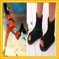 Free Shipping Naruto Anime Cosplay Ninja Black Shoes,1kg/pc