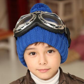 2562 princess child hat baby twist cap male female child knitted beanie hat warm hat pocket hat
