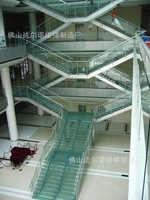 Villa stair railing / wood staircase / spiral staircase / stair glass / stainless steel rails / stair parts