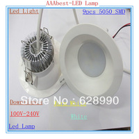 9W 9-CREE 5050SMD LEDS New Downlight Led Light 810LM High Power Led Bulbs Energy Saving Led Lamp 85V-265V