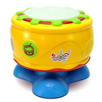 Happy Children's Fun Educational Toys 360 Degrees Rotating Musical Hand Beat Drum with Flash Lights for Baby Interesting Safe