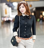 Career shirt 2013 new Promotions hot trendy cozy women clothes plus size Casual shirt Korean  OL Slim  send tie