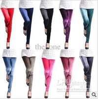 2013 New arrival Pleuche Pencil render pants/legging for female,10 pcs/lot,10 colors mixed