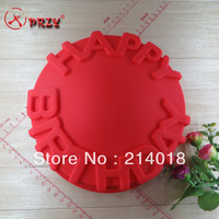 HAPPY BIRTHDAY modelling Cake mold  the food safety certification baking cake mold silicone cake mould NO.SI100