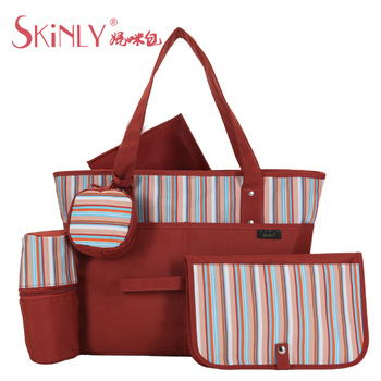 Skinly fashion mother bag large capacity multifunctional cross-body handbag one shoulder bag nappy bag ultra-light
