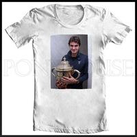 Roger Federer Grand Slam Tennis T-SHIRT T-shirt cotton Lycra top new arrival Fashion Brand t shirt for men 2013 summer