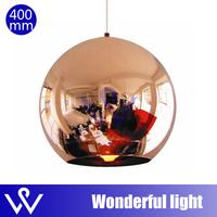2014 bedroom lamp modern Tom Dixon copper Shade mirror balls lamp glass Pendant Lamp 1pcs Dia 40CM home lamp