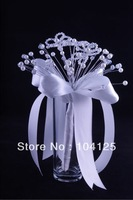 HK Post Free shipping 2013 acrylic crystal girl flower wedding bouquet bridal faux pearl teardrop artificial bead