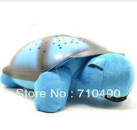 Free Shipping Tortoise Shadow Lamp With  Sleep Starry Sky Lamp Creative Baby   Dolls Stuffed Plush Toys 6 pcs/lots