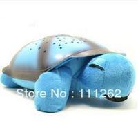 Free Shipping Tortoise Shadow Lamp With  Sleep Starry Sky Lamp Creative Baby   Dolls Stuffed Plush Toys 6 pcs/lots