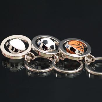 2015 Llaveros Free Shipping Chain Car Ring Cover Cute Metal Basketball Football Golf Keychain Male Mini Chains Spherule Rotation