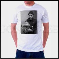 free shipping Grand Slam Tennis superstar Roger Federer  T-SHIRT T-shirt cotton Lycra top