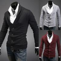 2014 The new design Slim sportsman Mens  lapel cardigan free shipping    9077