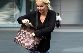 Large capacity fashion handbag one shoulder bag nappy bag fashion maternity