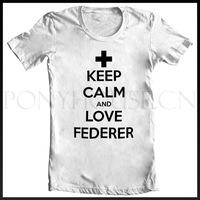 TENNIS KEEP-CALM-AND-LOVE-FEDERER T-SHIRT T-shirt cotton Lycra top new arrival Fashion Brand t shirt for men 2013 summer