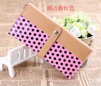 Leopard print multifunctional women's long design bags key wallet coin purse mobile phone coin case