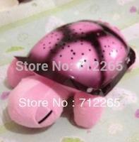 Free Shipping Tortoise Shadow Lamp With  Sleep Starry Sky Lamp Creative Baby   Dolls Stuffed Plush Toys 2 pcs/lots
