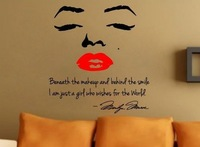 Marilyn Monroe Wall Decal Decor Quote Face Red Lips Large Nice Sticker